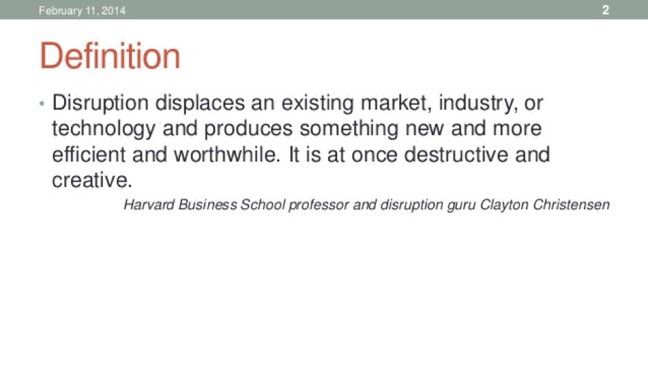 Innovation & Disruption