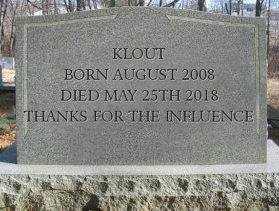 The Day Your Klout Died